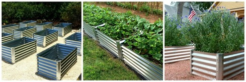 corrugated garden bed