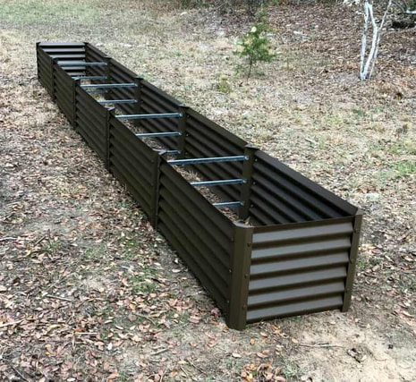 narrow rustic sandia metal garden beds
