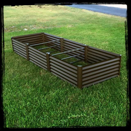 rustic largo metal garden beds