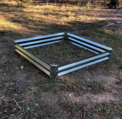 low cuadra metal garden beds